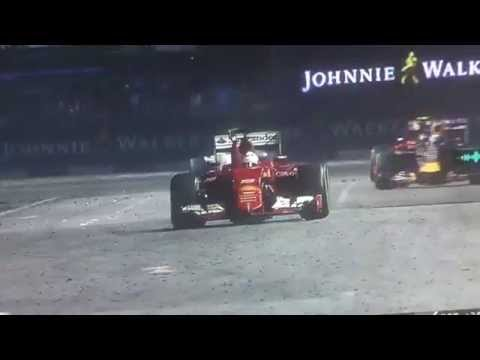 F1 2015 Singapore Gran Prix **Last 2 minutes** VETTEL WIN(with radio)