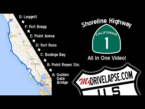 A Drive Up The Coast: California 1 Shoreline Highway, All The Way