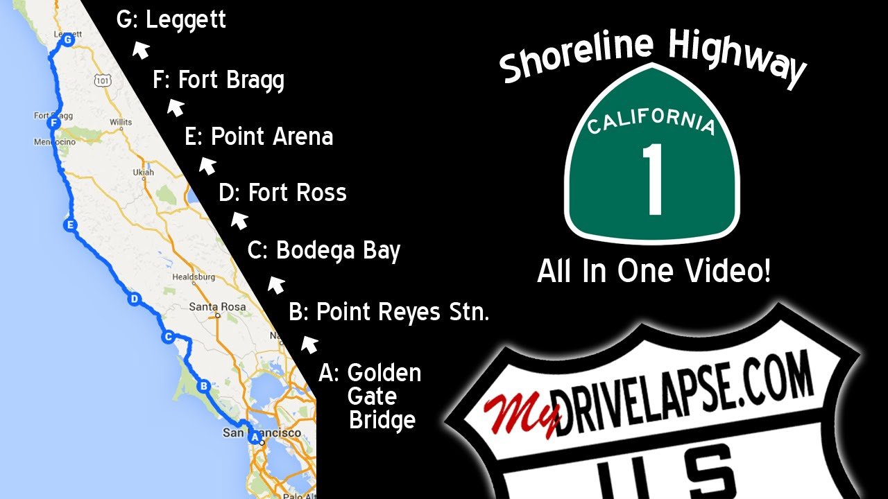 a drive up the coast california 1 shoreline highway all the way