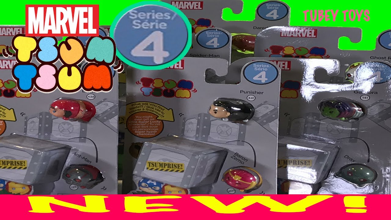 Lucky Unboxing Toys FoundTubey 4 3 Disney Packs New Super Tsumprise Tsum Series Ultra Marvel D9WIEH2Y
