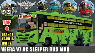 Download ORANGE TRAVELS SLEEPER BUS MOD PACK For Bus Simulator Indonesian |BUSSID V3.3.4