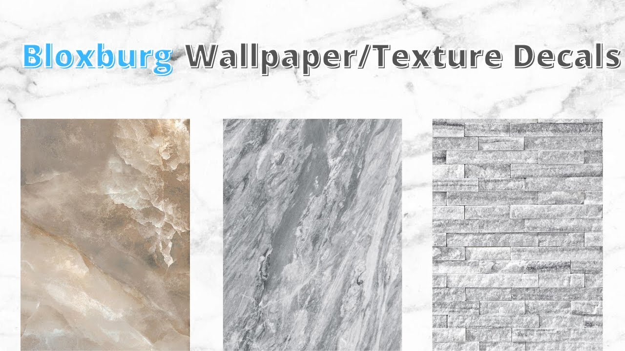 Bloxburg Wallpaper Texture Decal Codes Aesthetic Stone Brick Marble Texture Codes Roblox Youtube