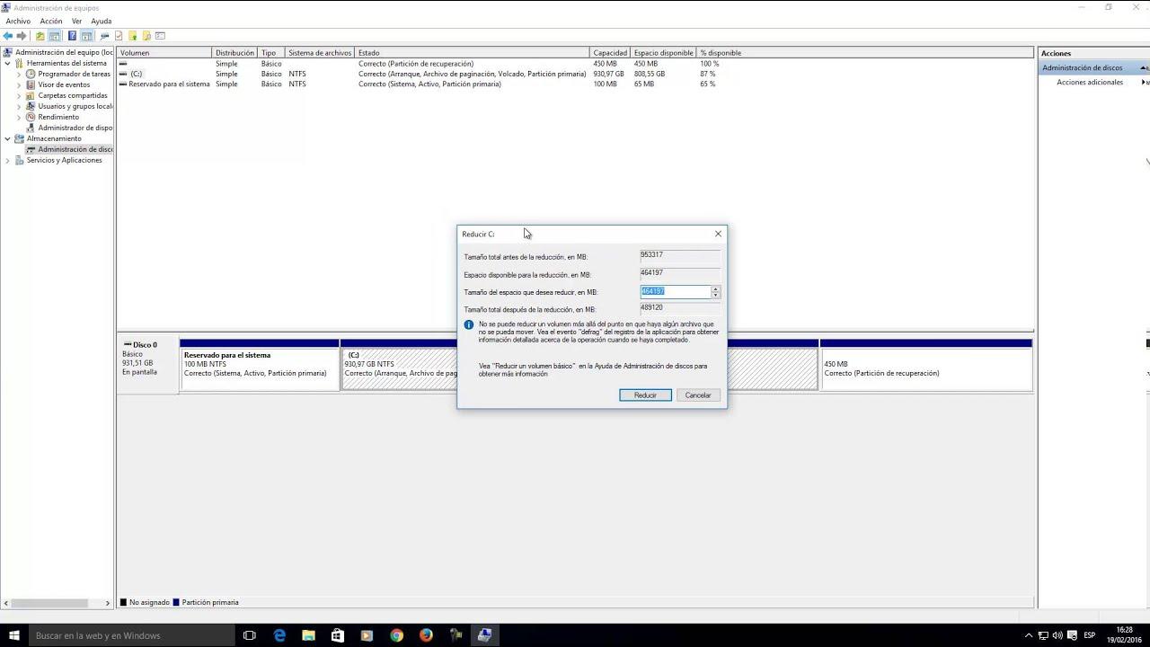 Cómo particionar tu disco duro sin formatear en windows 10 /8 / 7.