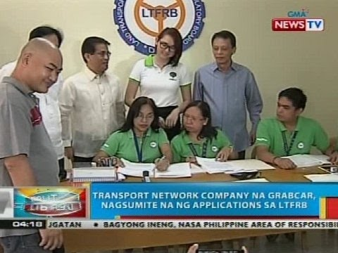 Transport network company na Grabcar, nagsumite na ng applications sa LTFRB