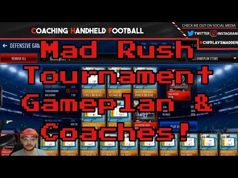 MORE MAD RUSH TOURNAMENT STRATEGY - GAMEPLAN, COACHES, AND MORE TIPS!
