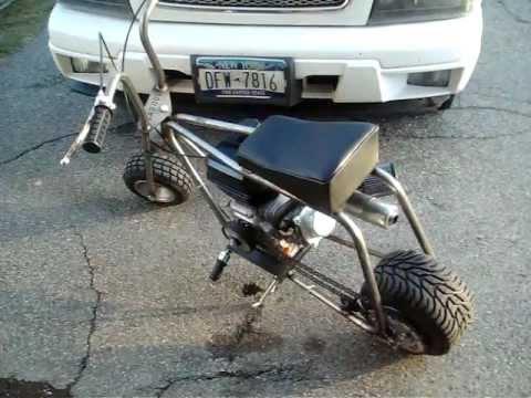 Bad Dog Drag Mini Bike   YouTube
