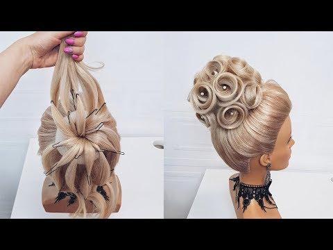 Красивые прически пошагово.Свадебная прическа.Розы из волос
