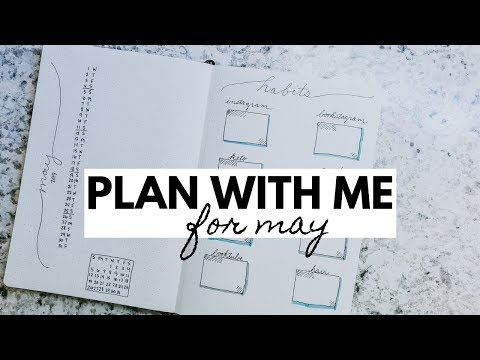 May 2019 Plan With Me | Minimalist Bullet Journal thumbnail