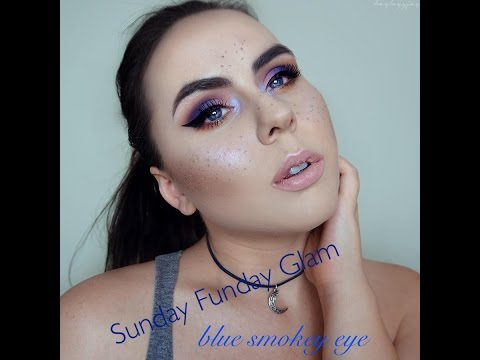 Sunday Funday Glam: Blue & Purple Smokey Eye Makeup! [4]