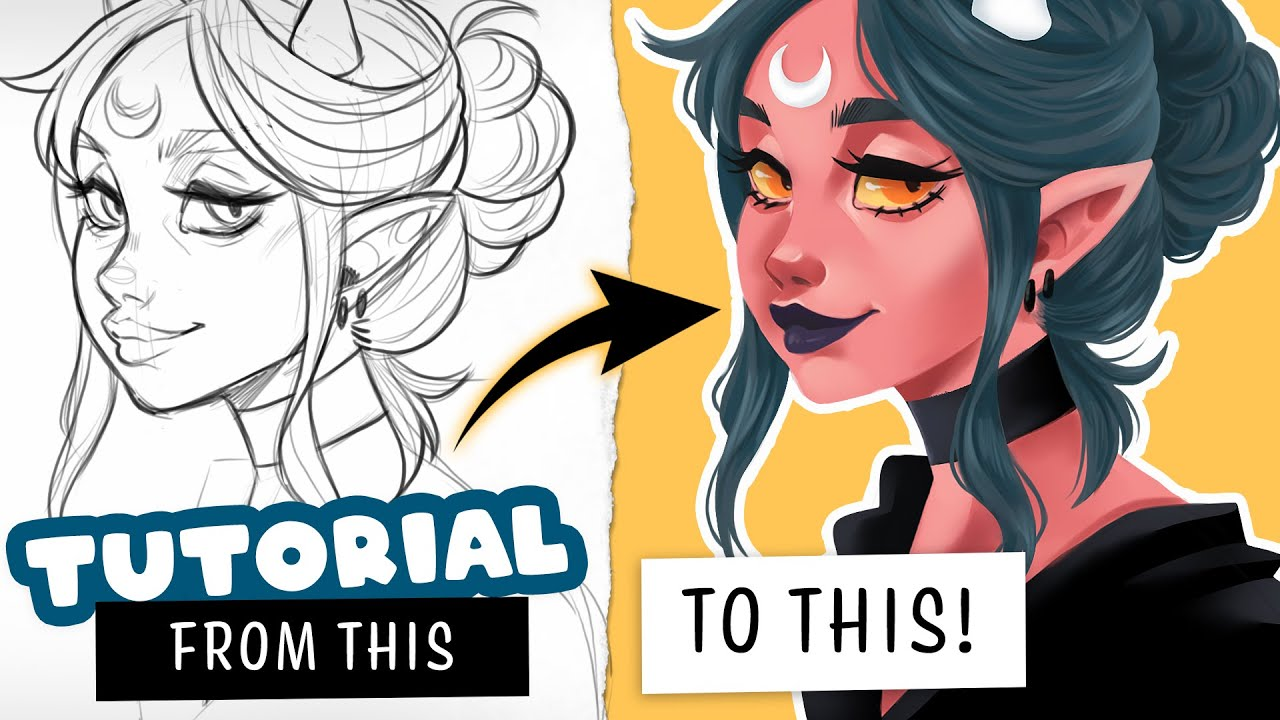 How To Color Without Lineart Digital Art Tutorial Youtube