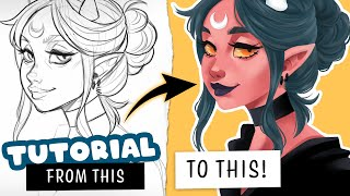 🎓 How to color WITHOUT lineart ✒️ Digital Art Tutorial