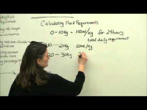 For fluid equation requirements adults
