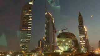 Путевые Заметки.Дубай,февраль 2019: ночной Dubai Downtown из вагона метро - тест видео IPhone XS Max