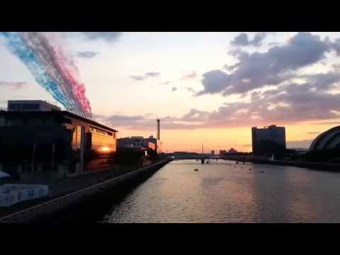 Red Arrows Flypast - Glasgow Commonwealth Games 2014