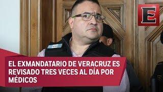 El estado de salud de Javier Duarte es estable por huelga de hambre