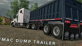 ATS V1.28 - Freightliner FLD 120  go up Hill with 40t of sand   ATS MODS