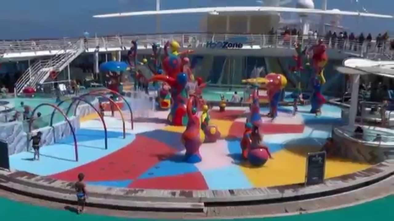 Kids Pools On Freedom Of The Seas Cruise Ship Youtube