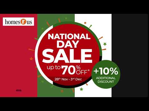 Homes R Us | UAE National Day Sale Up To 70% Off With Additional 10% Discount