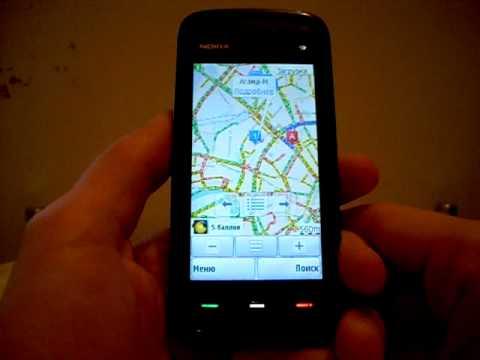 Мобильные Яндекс.Карты (ver. 3.02) на Nokia 5800.