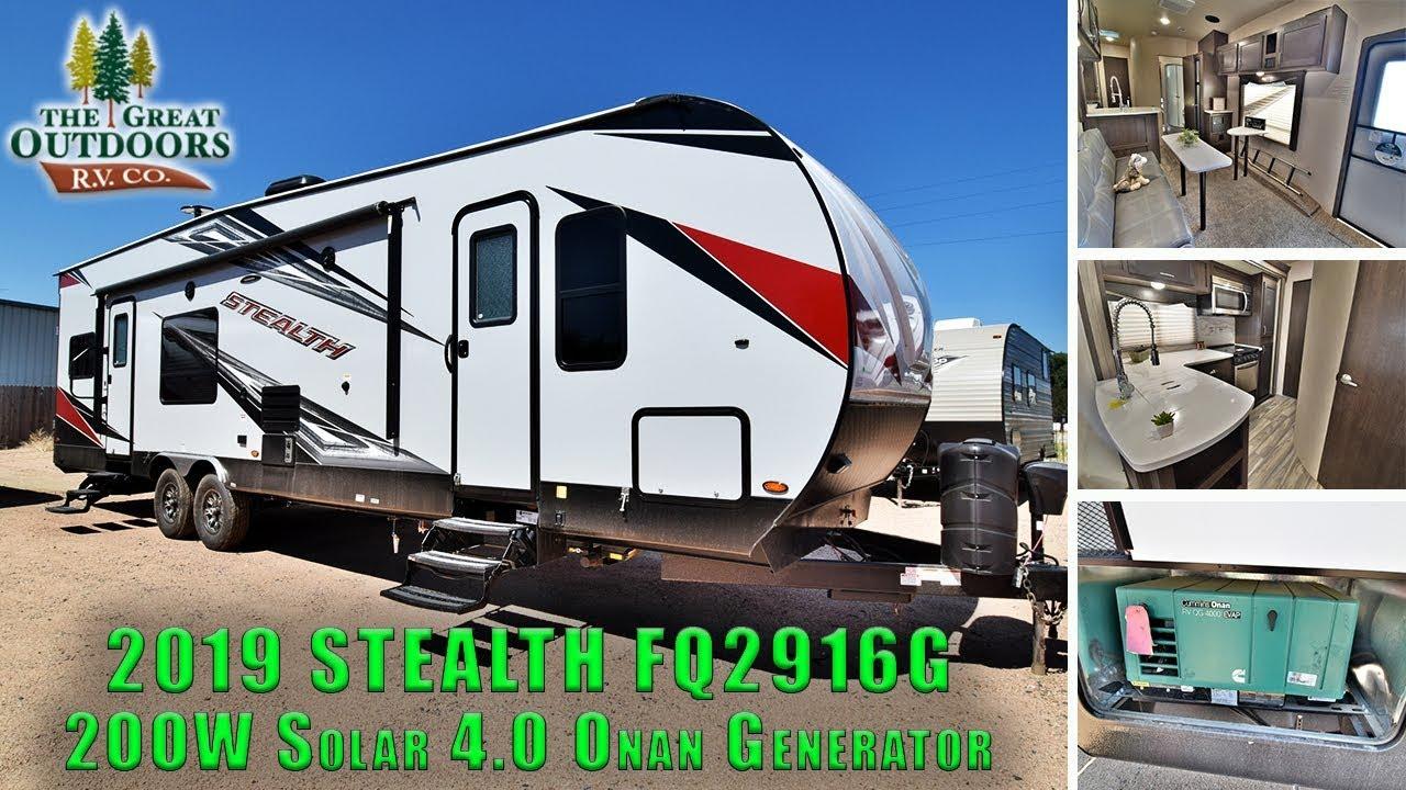 Stealth Toy Hauler >> New 2019 Stealth Toy Hauler Fq2916g 2oow Solar Power 4 0 Onan Generator Colorado Dealer