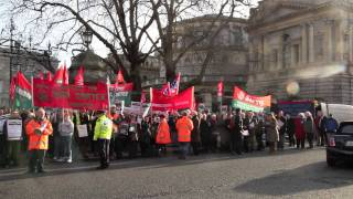 Protest in support of Vita Cortex workers at Dáil Éireann, Dublin 12 01 2012