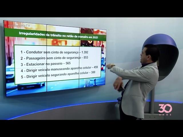 Retão de Manaíra não tem registros de excesso de velocidade, diz Semob -O Povo na TV
