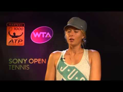 Sony Open Tennis Sharapova Interview 3-24