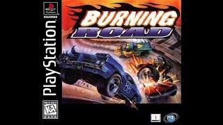 PS1 Burning Road Main Menu