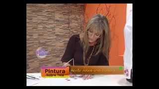 Mónica Sayous - Bienvenidas TV - Pinta sobre tela unas Hermosas Rosas.