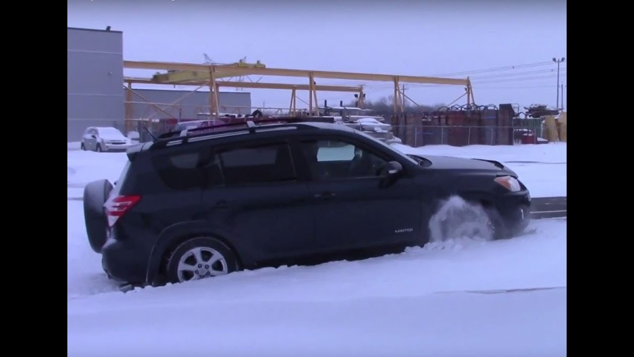 4wd Test 2010 Toyota Rav4 V6 Limited Diagonal And Offroad On Ice Snow