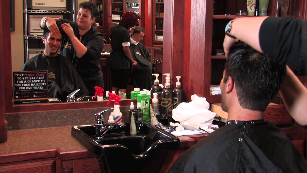 Mens Hair Cut Amp Straight Shave Roosters Mens Grooming