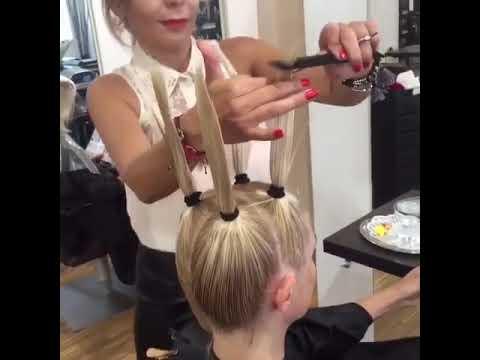 Стрижка для средних волос, придающая объем