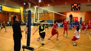 final octogonal de vleibol uc cumbres vs san ignacio el bosque inter deporte escolar cdf