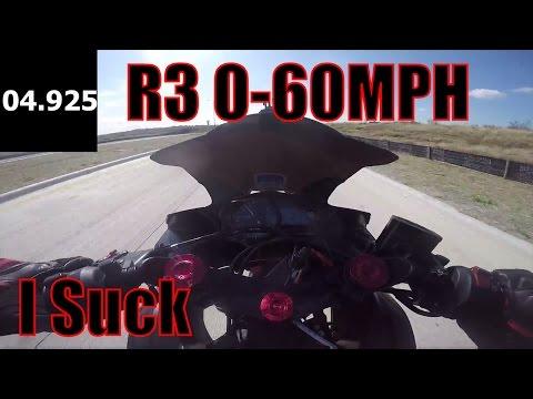 Yamaha R3 0-60mph Acceleration Time