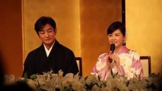 2016年3月31日、片岡愛之助さん&藤原紀香さんが帝国ホテルで結婚報告会...
