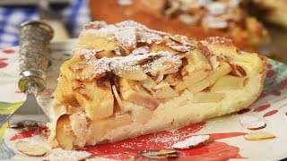 Apple Tart With Cream Cheese Filling Recipe Demonstration - Joyofbaking.com