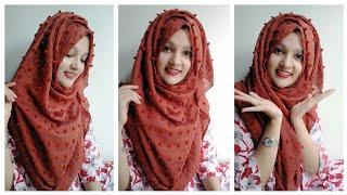 Easy Summer Hijab Tutorial without Inner Cap for Class/Shopping ||Tahmina Shova❤