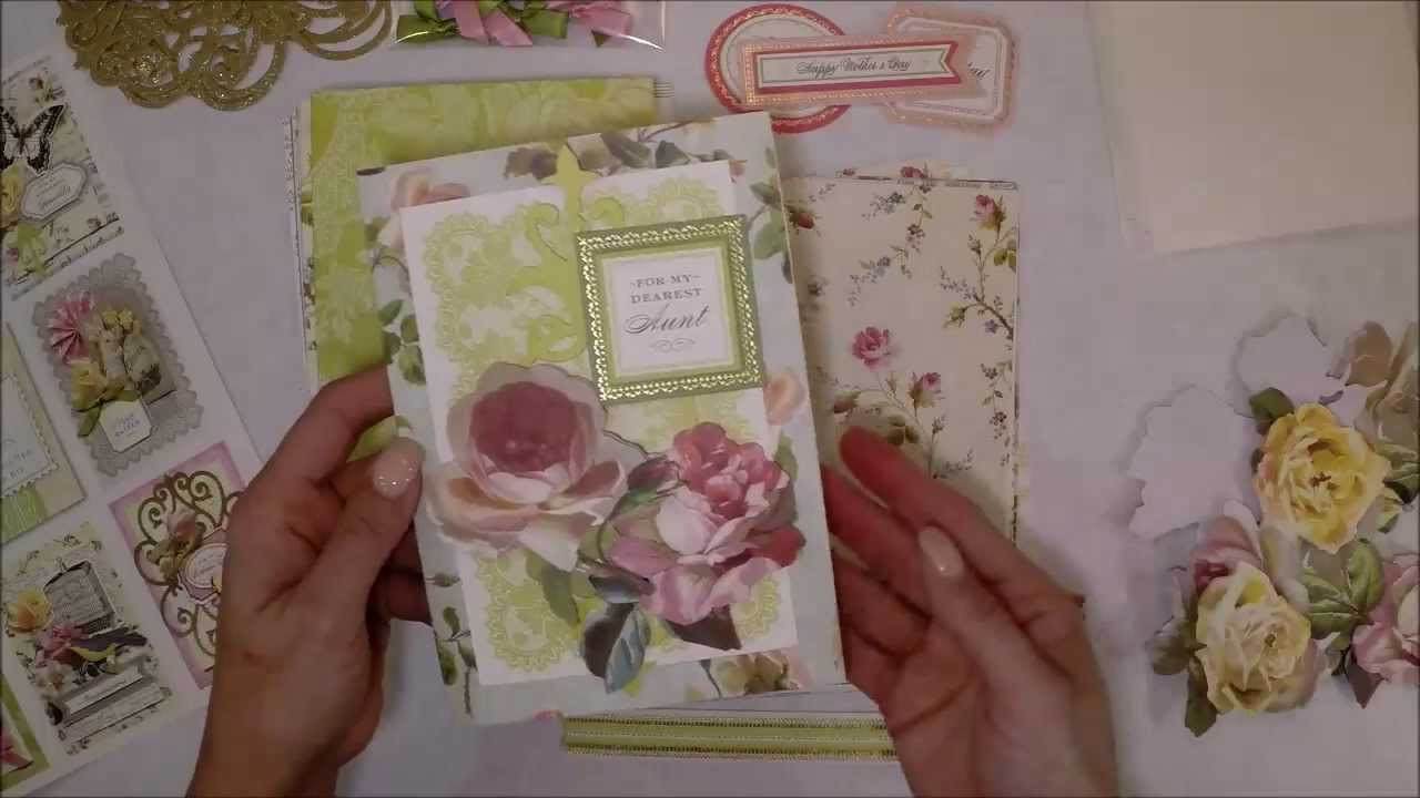 Ordinary Youtube Making Cards Videos Part - 12: How To Work With An Anna Griffin Card Making Kit From HSN