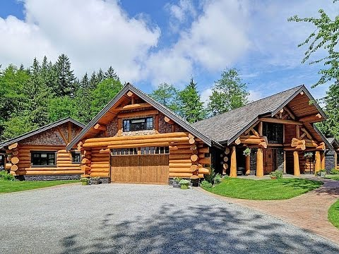 Download Youtube: Dream Homes - Luxury Log Home & $8 Million Dollar Farmhouse