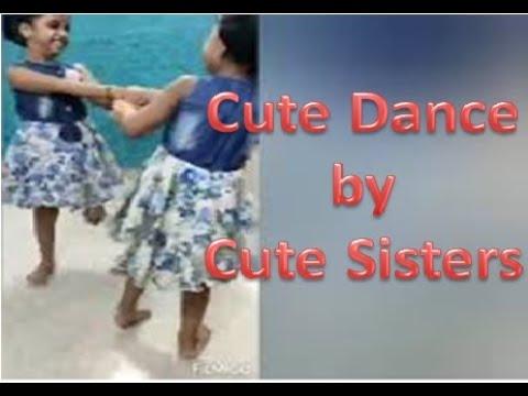 Cute dance by cute sisters