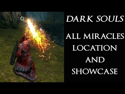 DARK SOULS Full Miracles Guide (All Miracles Showcase & Location)
