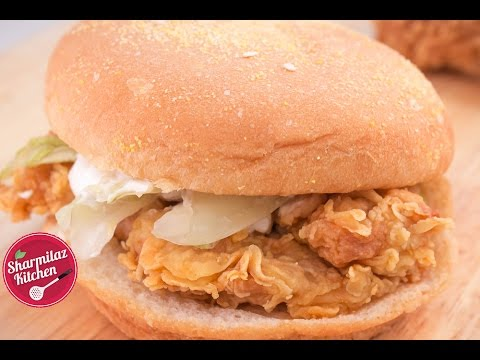 Kfc Style Chicken Zinger Burger Mad About Chicken Burger Try Out