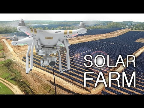 Flying Drone over 950,000 SOLAR PANELS!!!