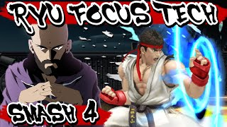 Ryu's Focus Attack Option Select - By GimR - Smash Wii U | SSB4 | Smash 4