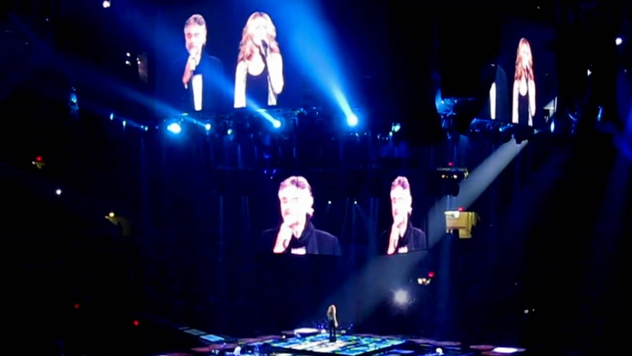 Hd Celine Dion The Prayer With Andrea Bocelli Madison Square Garden Taking Chances Tour