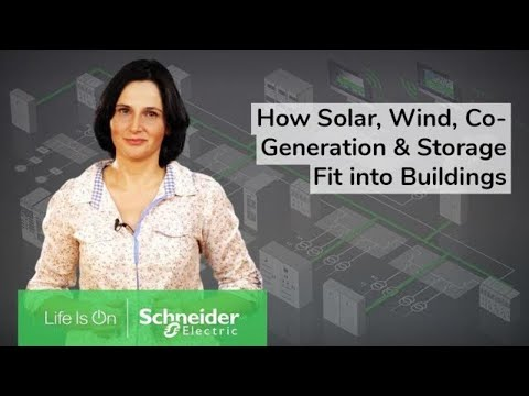 How Solar, Wind, Co-Generation and Storage Fit into Buildings | Schneider Electric