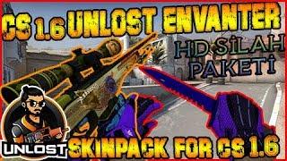CS 1.6 UNLOSTV SKINPACK HD Silah + Eldiven + Ses [ #Oyuncularınpackleri ]