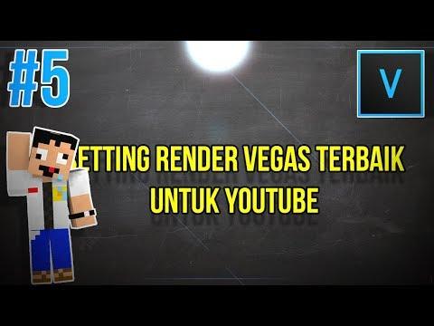 Cara merender video di Sony Vegas Pro 13.