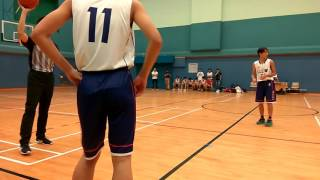 香港男子甲組學界籃球比賽 怡文vs梁省德(21/09/201
