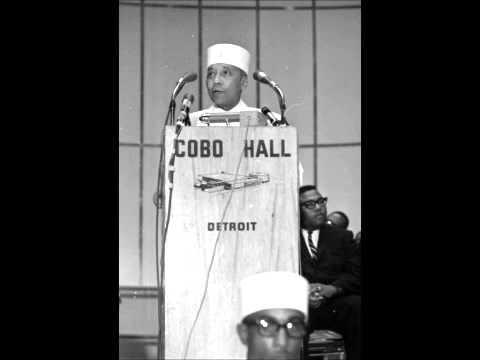 Elijah Muhammad speaks at Cobo Hall